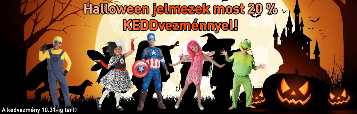 Halloween jelmez akció