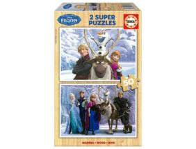 Educa Disney Jégvarázs - Fa puzzle 2x50 db-os