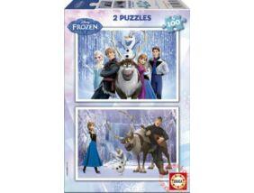 Educa Disney Jégvarázs - Puzzle 2x100 db-os