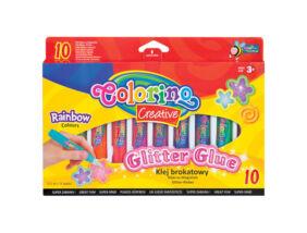 Colorino Creative csillámos ragasztó készlet, 10x10,5ml, RAINBOW