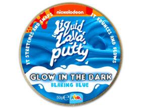 Intelligens putty gyurma - Sötétben világító - Kék