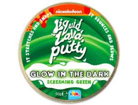 Intelligens putty gyurma - Sötétben világító - Zöld