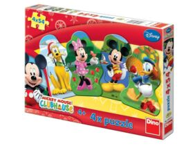 Mickey egér puzzle 4x54 db-os