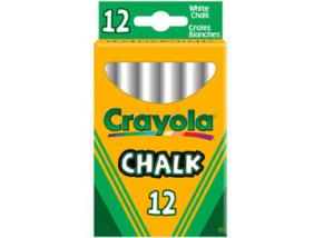 Crayola - Táblakréta - fehér, 12 db-os