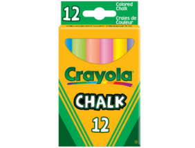 Crayola - Táblakréta - színes, 12 db-os