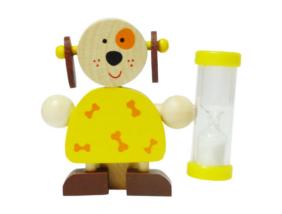 Fajáték - Fogkefetartó homokórával - kutyás