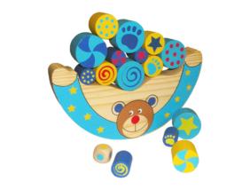 Egyensúlyozó játék - macis