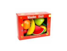 Fajáték - Gyümölcskészlet - 6 db-os