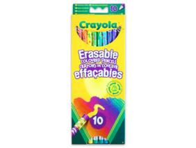 Crayola - Színes ceruza - Radírvégű, 10 db