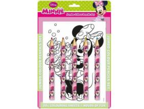 Minnie Egér színező 5 db színes ceruzával