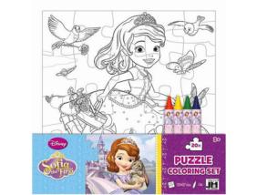Szófia színezhető puzzle zsírkrétával