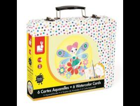 Janod - Kreatív akvarell szett bőröndben