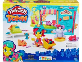 Play-Doh Town - Kisállat kereskedés - Gyurma szett