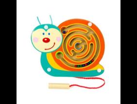 Fajáték - Mágneses golyóvezető - kicsi csiga