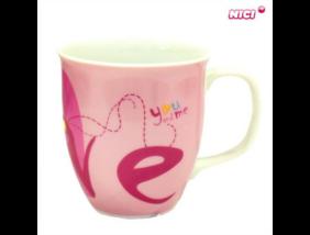 Nici - Szívecskés porcelán bögre - rózsaszín