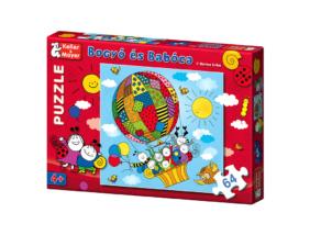 Bogyó és Babóca puzzle - A léghajó - 64db-os