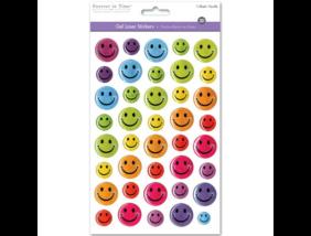 Glitteres gél matrica - Smiley (14x21 cm)