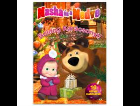 Mása és a Medve - Boldog Karácsonyt! - kifestő matricákkal