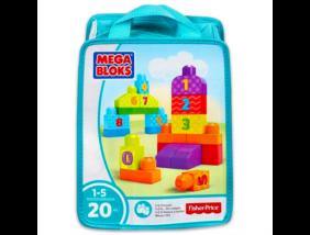 Mega Bloks - 1-2-3 számolj építőkockák - 20 darabos