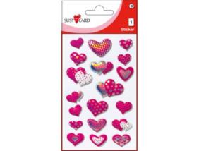 Szívek - öntapadó 3D matricák