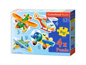 Mókás repülők 4 az 1-ben puzzle