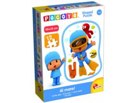 Pocoyo - 12 db-os Disney Formapuzzle - Pocoyo búvár