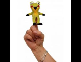 Kisvakond plüss ujjbáb - Béka - 8 cm