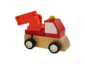 Fajáték - Felhúzható tűzoltóautó