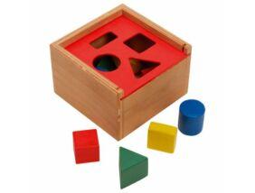 Fajáték-Formakereső doboz színes