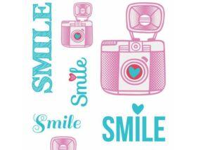 Aladine Matrica készlet textilre-Smile