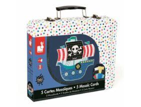 Janod-Kalózhajó mozaik készlet bőröndben