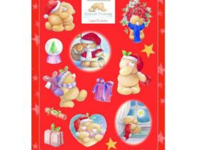 Forever Friends karácsonyi matrica 16x20 cm