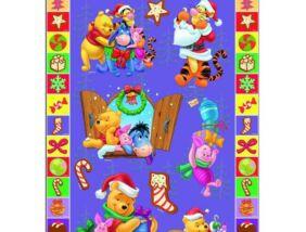 Micimackó karácsonyi matrica 10x20 cm