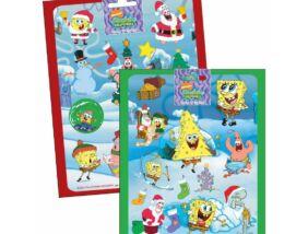 Spongya Bob karácsonyi matrica 16x20 cm