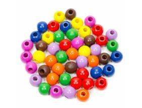 Fajáték-Fagolyó színes 20 mm,50 db-os