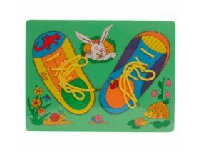 Fajáték-Fűzős cipő puzzle