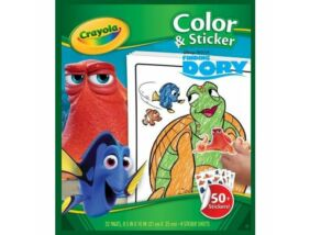 Crayola-Szenilla nyomában kifestő matricával