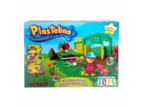 Plastelino-Virágoskert gyurmakészlet