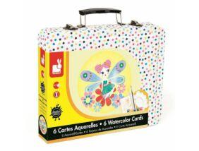 Janod-Kreatív akvarell szett bőröndben