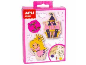 Apli Kids Mini Kit-Figura kifestő Hercegnő