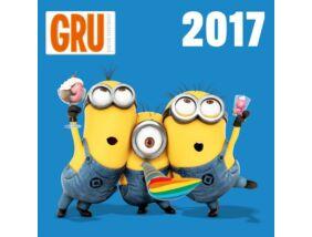 Minion, Minyonok nagy lemeznaptár matricával 2017