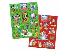 Mickey egér matrica karácsonyi, többféle, 16x20cm