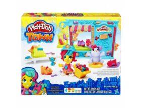 Play-Doh Town-Kisállat kereskedés gyurma szett