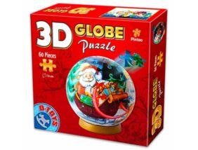 Karácsonyi 60 darabos 3D gömb puzzle - többféle