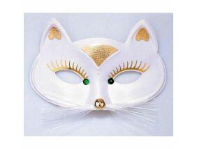 Fehér macska álarc - univerzális méret