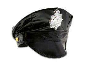 Rendőr sapka - fekete
