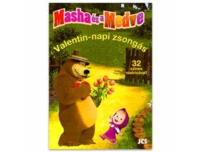 Mása és a Medve Valentin-napi zsongás foglalkoztató könyv
