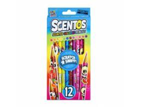 Scentos - Illatos színes ceruza 12 db