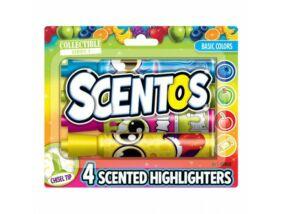 Scentos - Illatos Szövegkiemelő - Élénk színek 4 db-os
