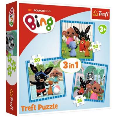Bing nyuszi - Móka a barátokkal 3 az 1-ben puzzle